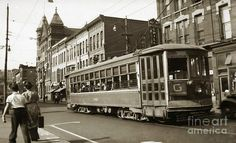 Wilkes Barre Streetcar on E.Market St.