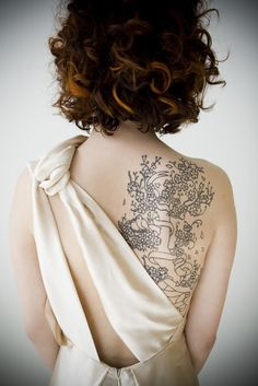 Kinda what I have in mind for my tree tat... love this one, it's a Beautiful tatoo!