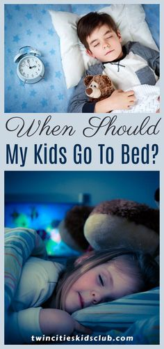 Twin Cities Kids Club Blogs: When Should My Kids Go To Bed? - When your kids are young, it is your responsibility to help them establish solid routines for later in life. By setting good sleep patterns, consistency, and routine, you are helping your child to develop good habits. These will help them to stay healthy later in life. | Kids Sleep Time | Sleep Routine | Parenting Tips | Kids Sleeping Pattern Kids Sleep, Good Sleep, Kids And Parenting, Parenting Hacks, Learning Through Play, Good Habits, Twin Cities, Educational Activities, Bedtime
