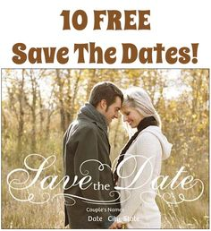 10 FREE Save The Date Cards! {just pay s/h!} #wedding #savethedates