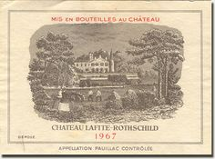 Tasted in 1978 or so; the finest wine I'd ever experienced at that point. Not a great vintage for Bordeaux, but Lafite rarely made anything less that wonderful wines, then or now.