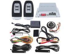 Rolling code Smart key PKE car alarm system remote engine start/stop, auto central locking push button start vibration alarm