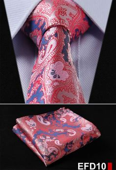 "Material: 100% silk Condition: Handmade Tie size: Length:59""(150cm) Width:3.4""(8.5cm) Handkerchief size: 8.6""X8.6""(22cmX22cm) Packing: Protective and Simple Packing Item Type: Ties Pattern Type: Flora"