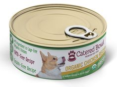 The Catered Bowl Organic Chicken Pet Food (24 Pack), 5 oz * Click image to review more details. (This is an affiliate link and I receive a commission for the sales)