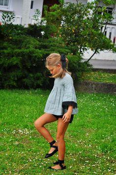 Stylish Baby, Stylish Kids, Little Girl Fashion, Teen Fashion, Jupe Short, Outfits Niños, Gaucho, Little Dresses, Child Models