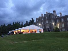 Marquee looking fabulous at Bowhill House & Country Estate in Selkirk #wedding #event #scotland