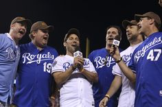 Jon Hamm and Jason Sudeikis Photo - St Louis Cardinals v Kansas City Royals
