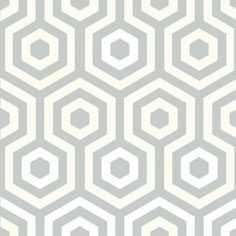 Hexagono Wallpaper | Grey Wallpaper | Buy Wallpaper Direct Online. Master bedroom wallpaper.