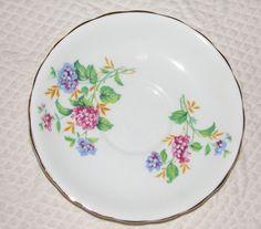 Clarence Hydrangea Blue Pink on White Bone China Cup Saucer Gilt Trim UK | eBay