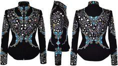 Sky Blue Poetry Jacket #customshowclothing #westernshowjacket #showmanshipjacket