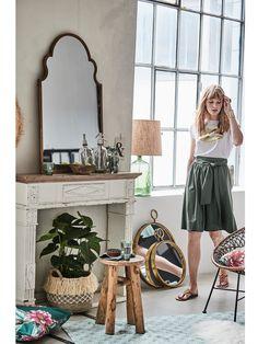 Spiegel Fenster Holz Spiegel 2 Klappen Antik Rustikal Design Blau Oder Beige Elegant Und Anmutig
