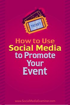 Does your business host an event or conference? Wondering how to use social media to build awareness for an event? In this article, you'll discover how to use social media to keep your event top of mind with your audience. Event Marketing, Marketing Digital, Content Marketing, Internet Marketing, Online Marketing, Social Media Marketing, Marketing Strategies, Marketing Plan, Business Marketing