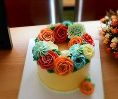 flower cake butter cream cake