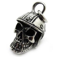 316L stainless steel knight soldier skull Men's Pendant - $92nok (free)