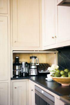 New Kitchen Corner Storage Ideas Appliance Garage Ideas Kitchen Paint, Kitchen Reno, Kitchen Storage, New Kitchen, Kitchen Remodel, Kitchen Organization, Organization Ideas, Kitchen Cabinetry, Kitchen Flooring