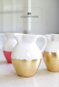 DIY Gold Pitchers