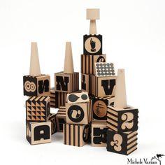 Wood Typography Blocks