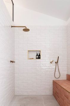 Home Interior Lighting TRIAS Architects raises Three Piece House on a red brick base.Home Interior Lighting TRIAS Architects raises Three Piece House on a red brick base Bathroom Renos, Bathroom Interior, Home Interior, Small Bathroom, Interior Decorating, Brick Tiles Bathroom, Bathroom Ideas, Ikea Interior, Modern Bathroom Tile