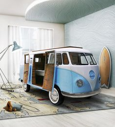 It looks like someone has parked in your bedroom. Check it out ==>  http://gwyl.io/vw-camper-bed/