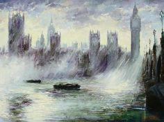 Westminster Light by Gleb Goloubetski, Oil on Canvas, 120cmx160cm
