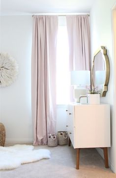 Mint Arrow pink and gold bohemian bedroom. Pretty colors! I ESPECIALLY LOVE THOSE CURTAINS! <3