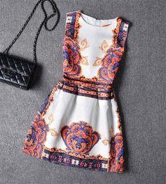 Arca 2016 moda Vestidos das mulheres Vestido de verão Vestido de festa Casual O pescoço sem mangas Vestido de renda A - linha Brasil tendência Plus Size