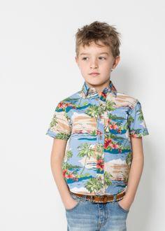 Hawaiian shirt - Kids - MANGO KIDS