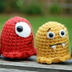 http://wixxl.com/not-scary-baby-amigurumi-monsters/ Not That Scary Baby Amigurumi Monster Pattern