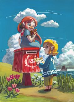 The Legend of Zelda: The Wind Waker - Medli and Link