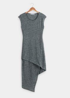 Asymmetrical Linen Jersey Midi Dress | Rodale's