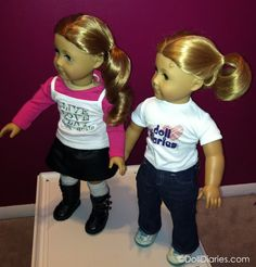 Tips for keeping your doll's curls looking gorgeous! American Girl Nicki and American Girl doll with Honey Blonde hair
