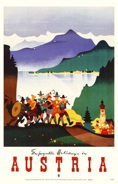 Austria travel poster