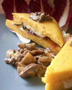 Tramezzino di polenta con Asiago DOP e radicchio rosso stufato Chef: Laura Telatin