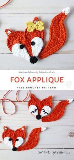 Crochet Teddy, Crochet Fox, Crochet Motif, Crochet Animals, Easy Crochet, Crochet Hooks, Free Crochet, Crochet Geek, Beginner Crochet