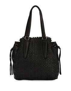 Liebeskind Berlin Osaki Leather Handbag Women's Black