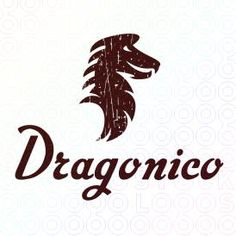 Grungee Dragon Logo Design For Sale On StockLogos | Dragonico logo