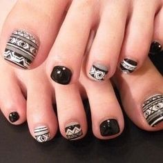 White toe Nail Designs Lovely 37 Pedicure Nail Art Designs that Will Blow Your Mind Cute Toe Nails, Toe Nail Art, Love Nails, Pretty Nails, Tribal Toes, Pretty Pedicures, Nail Nail, Halloween Toe Nails, Toenails