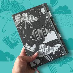 Caderno Chove Chuva - Cinza