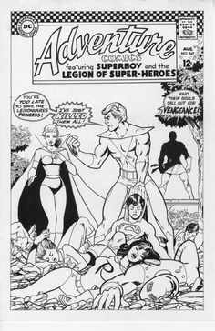 Legion of Superheroes Homage to The New Teen Titans Issue 2 Comic Art