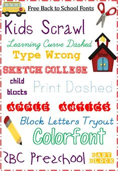School Fonts: Free for Back to School Bullet Journal Font, Journal Fonts, Journaling, Cute Fonts, Fancy Fonts, Computer Font, Chalkboard Fonts, Silhouette Fonts, Typography Fonts