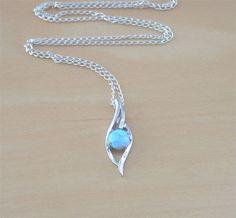 925 Blue Opal Pendant