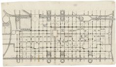 Traffic Study, project, Philadelphia, Pennsylvania, Plan of Proposed Traffic movement pattern (1952) | Louis I. Kahn