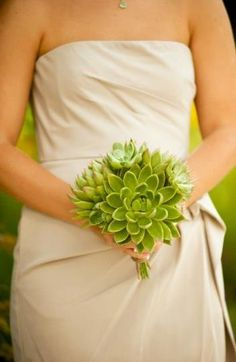 A #bouquet made totally of succulents {Blue Goose Celebrations | Waco Wedding Planner, Coordinator & Designer}