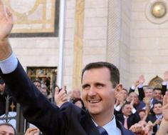 Meet Assad Royal family of Syria  Hailing his people and power, a smiling, smug Bashar is not so formidable as father who ruled by force, and it is perhaps his cronies and military that lend him the iron fist he nevertheless wields. Known as more of a soft touch, on a path for doctoring, not dictating.