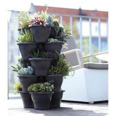Plantentoren groot antraciet - 5 etages