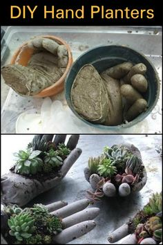 Does your garden need one of these helping hypertufa hands?