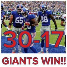 #NYGIANTS GIANTS WIN!!!! 30-17 win