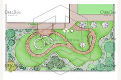 Landscaping master plan, 2d sketch by@Graphicsauthor