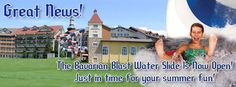 Our two new Water Slides, the Tower Twister and Bavarian Blast are now open! Frankenmuth Bavarian Inn, Frankenmuth Michigan, Water Slides, Summer Fun, Tower, Rook, Computer Case, Summer Fun List, Summer Activities