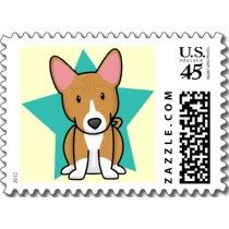 Can't believe it .... a custom postage stamp with a basenji on it. LOVE THIS. (We have a basenji obviously ... :D )